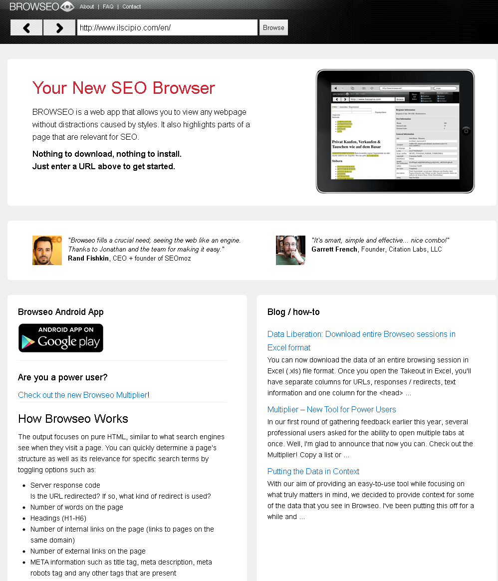 Browseo Screenshot