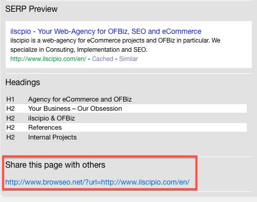Browseo Update: Geschwindigkeit & URLs zum Teilen