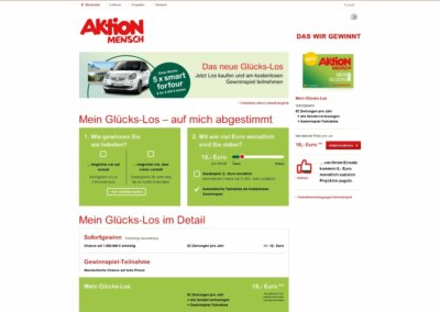 """Aktion Mensch – """"My lucky ticket"""""""