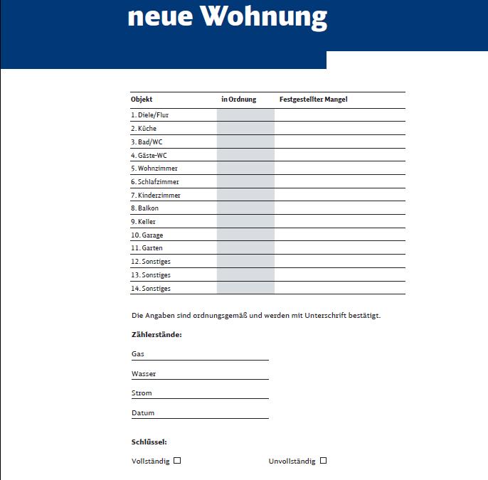 DB Schenker – Umzugsformulare
