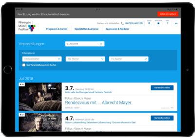 Rheingau Musik Festival – Order App