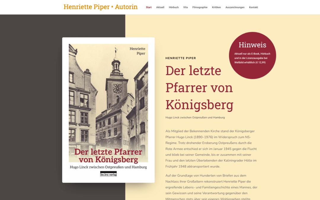 Henriette Piper – Autorin