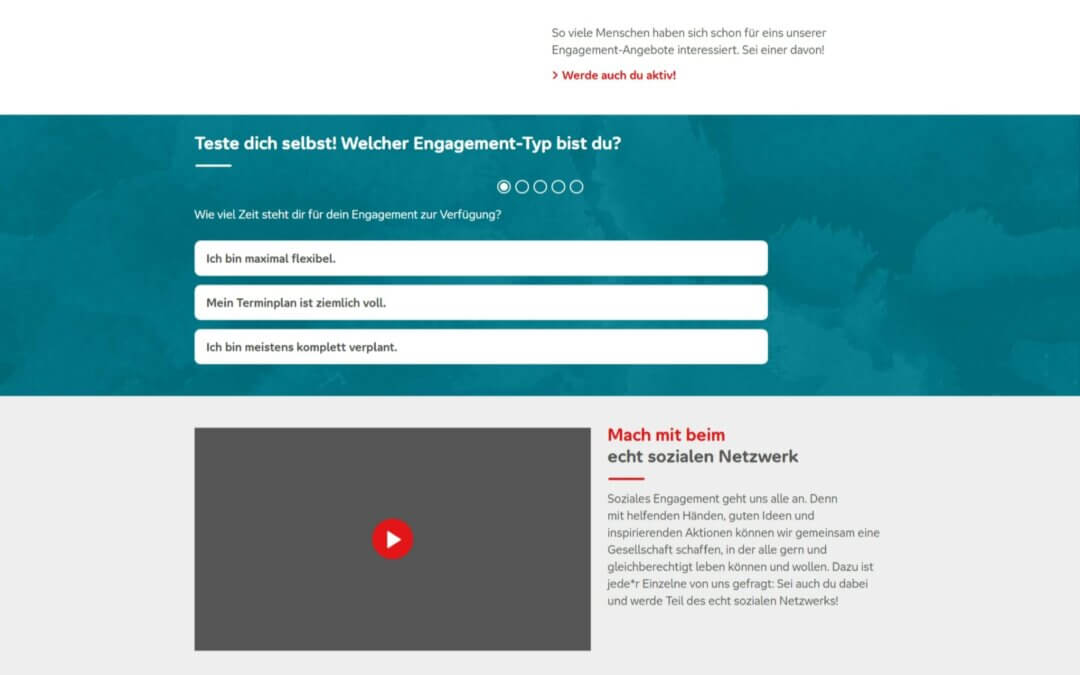 Aktion Mensch – Find your social engagement